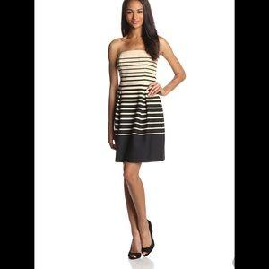 Trina Turk Kenzie desert stripe strapless dress